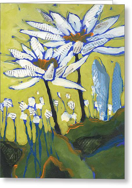 White Flowers Greeting Card