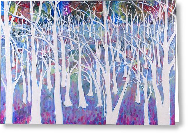 White Forest Greeting Card by Rollin Kocsis