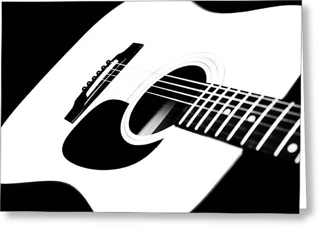 Fretboard Greeting Cards - White Guitar 4 Greeting Card by Andee Design