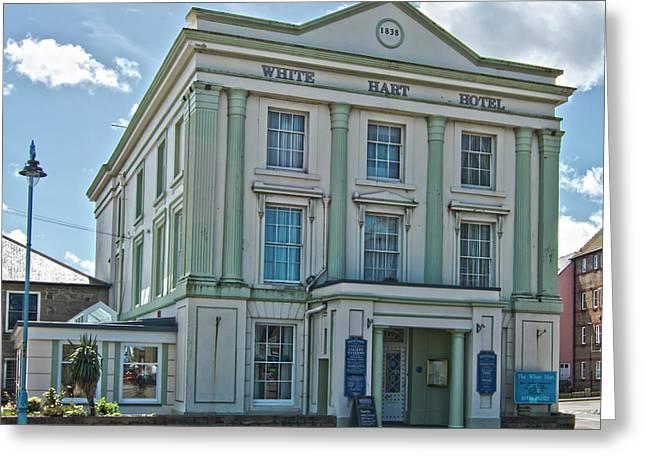 White Hart Hotel Hayle Cornwall Greeting Card