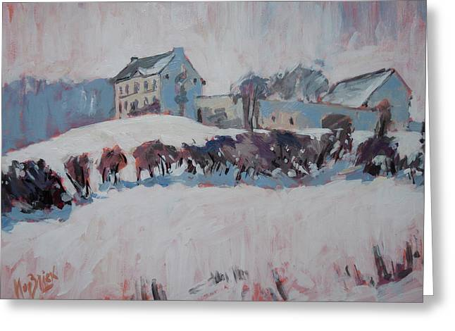 White Hill Zonneberg Maastricht Greeting Card by Nop Briex