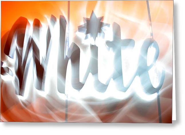 White Hot Greeting Card