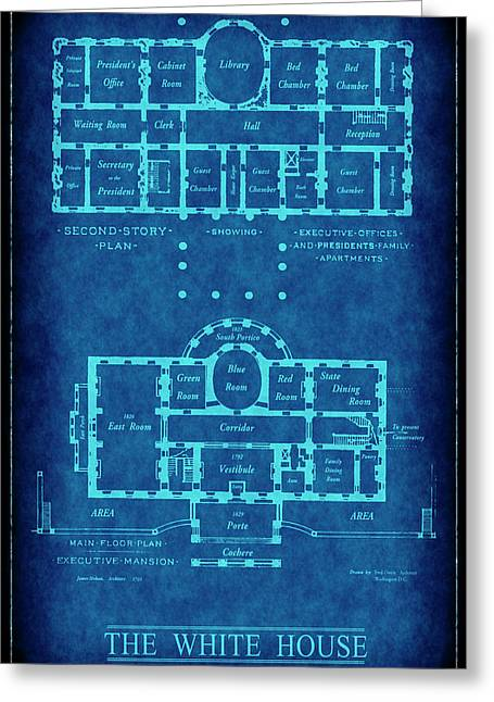 White House Blueprint Greeting Card