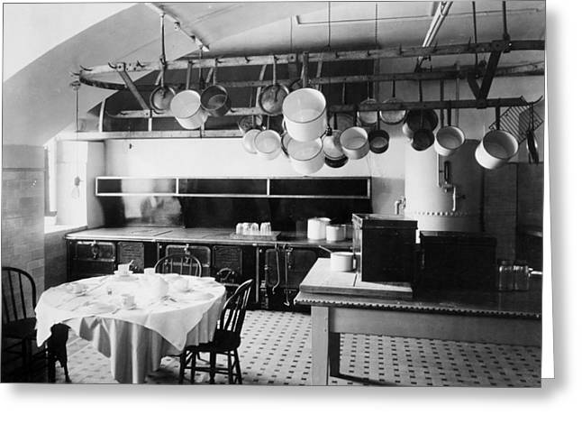 Rack Greeting Cards - White House Kitchen, 1901 Greeting Card by Granger