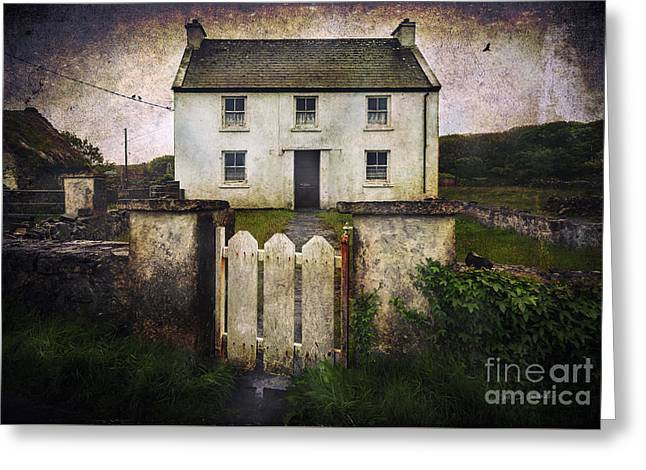 White House Of Aran Island Greeting Card by Craig J Satterlee
