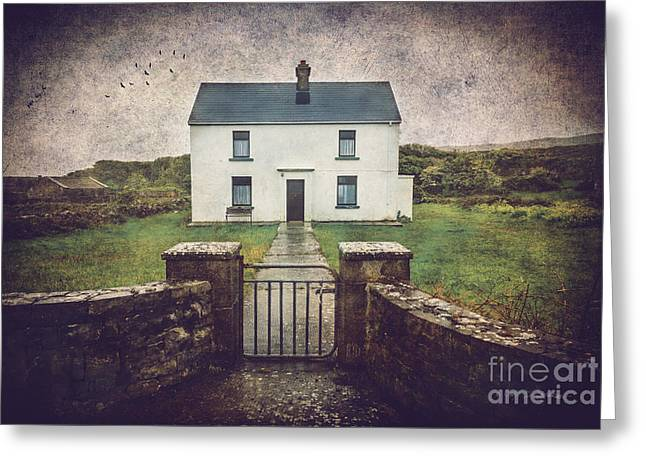 White House Of Aran Island I Greeting Card by Craig J Satterlee