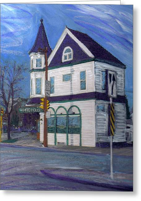 White House Tavern Greeting Card by Anita Burgermeister