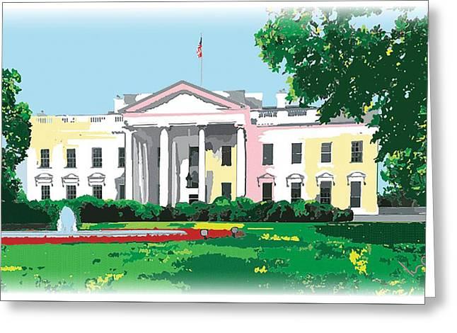 White House, Washington Dc Greeting Card by Inge Lewis