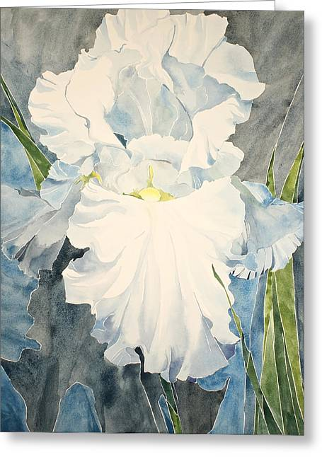 White Iris - For Van Gogh - Posthumously Presented Paintings Of Sachi Spohn   Greeting Card