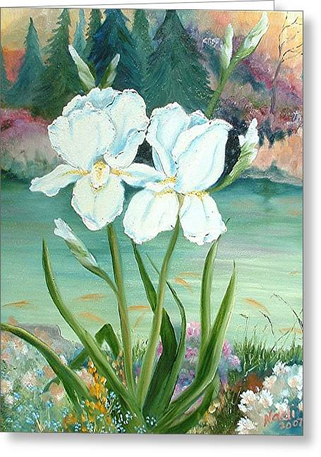 White Iris Love Greeting Card