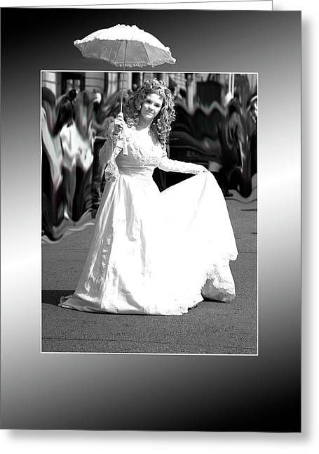 White Lady Greeting Card by Christopher Rowlands