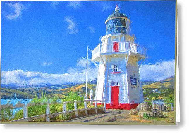 White Light Greeting Card by Jan Pudney