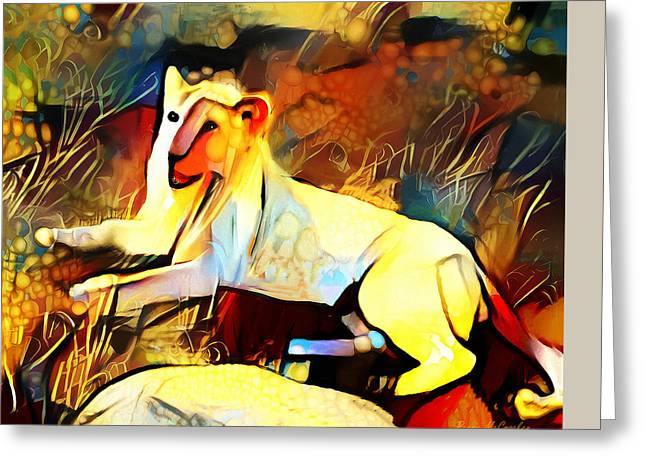Greeting Card featuring the photograph White Lioness by Pennie  McCracken