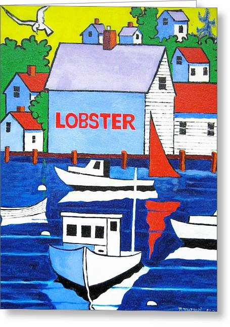 White Lobster Shack Greeting Card by Nicholas Martori