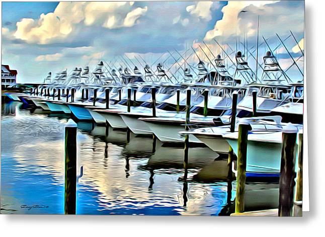 White Marlin Open Greeting Card by Anthony C Chen