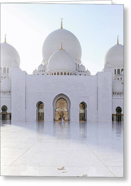 Greeting Card featuring the photograph White Mosque by Ryan Miglinczy