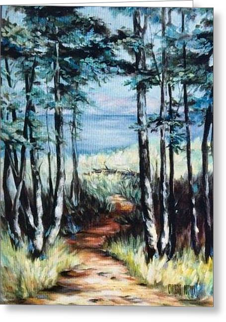 White Mountain Forest Greeting Card