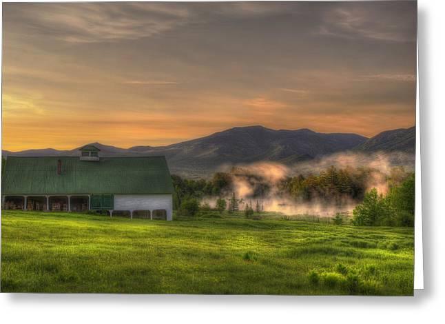 White Mountain Sunrise - New Hampshire Greeting Card by Joann Vitali