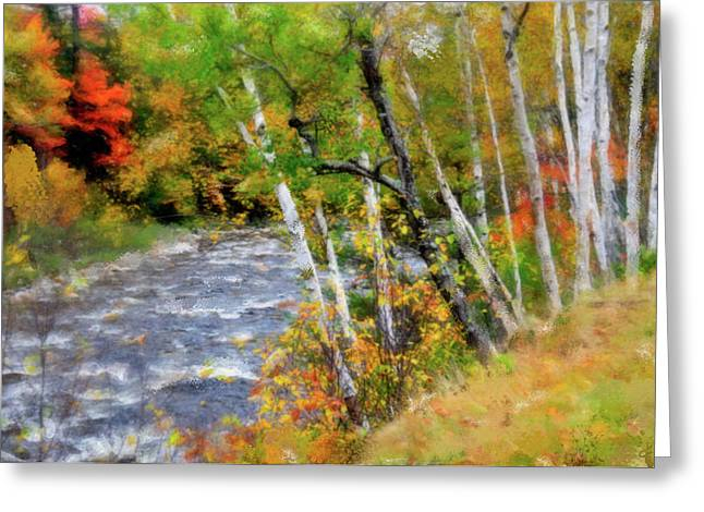 Stream Digital Greeting Cards - White Mountains Brook Greeting Card by Betty LaRue