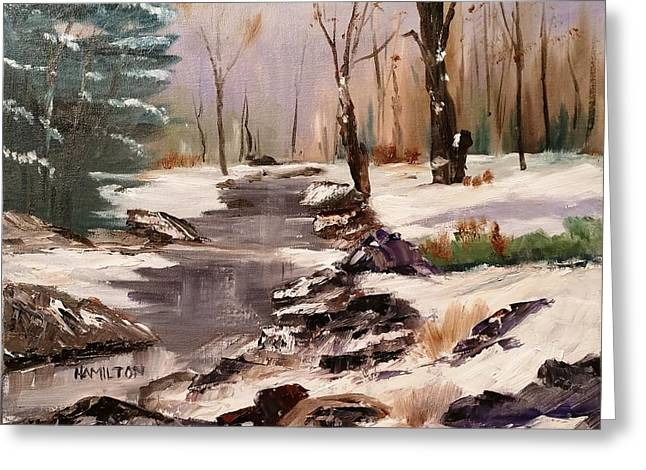 White Mountains Creek Greeting Card