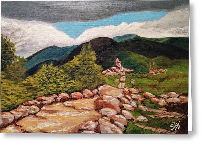 White Mountains Hiking Trail Greeting Card by Sheri Doyon