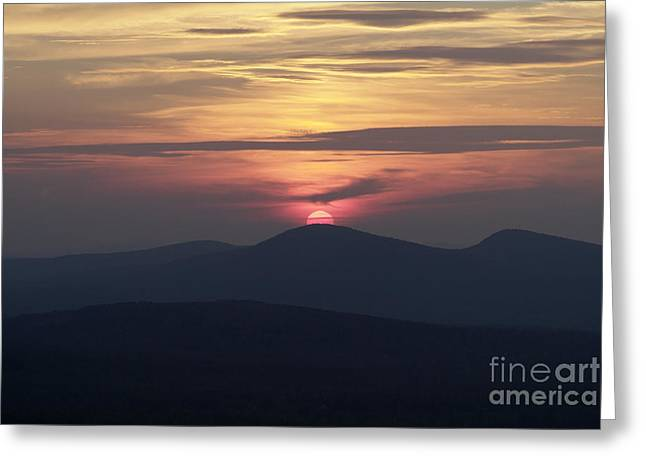 White Mountains Nh - Sunset Greeting Card by Erin Paul Donovan