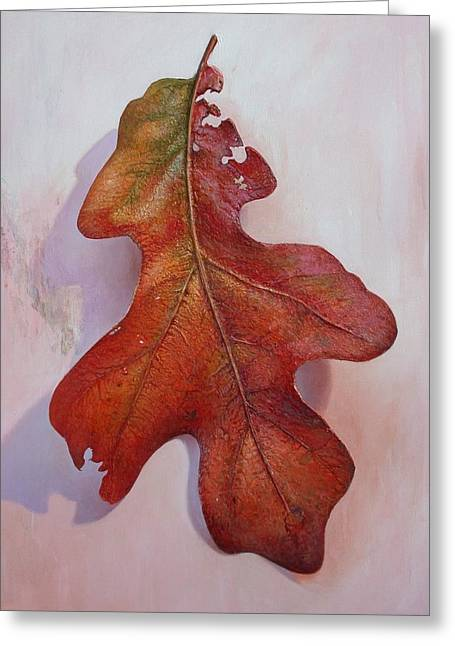 White Oak Leave Greeting Card by Hans Droog