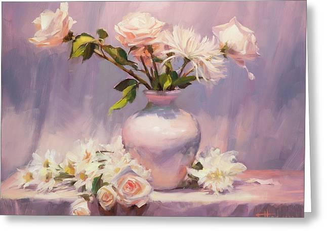 Greeting Card featuring the painting White On White by Steve Henderson