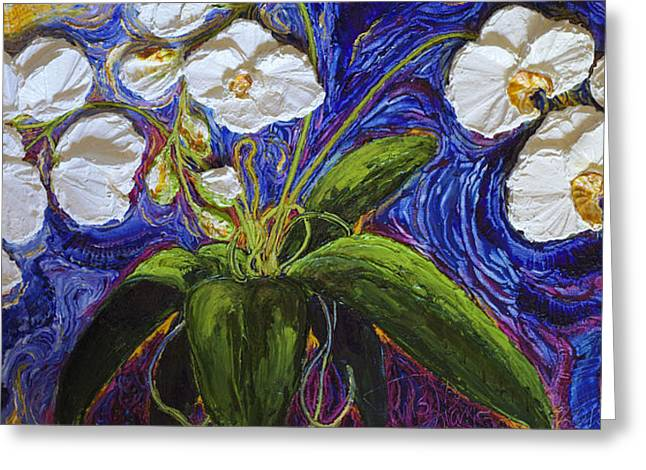 White Orchid Greeting Card by Paris Wyatt Llanso