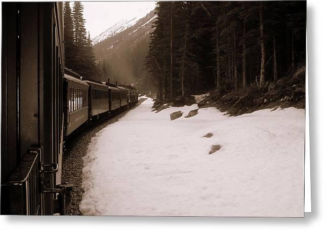 White Pass Railway Greeting Card