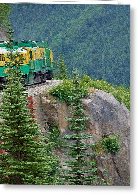 White Pass Train Alaska - Canada Greeting Card