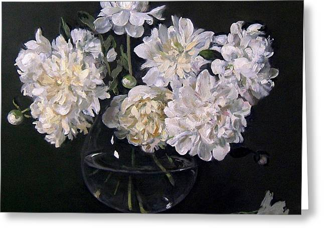 White Peonies Are Ready To Explode Greeting Card