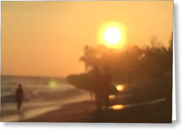 White Plains Beach Greeting Card