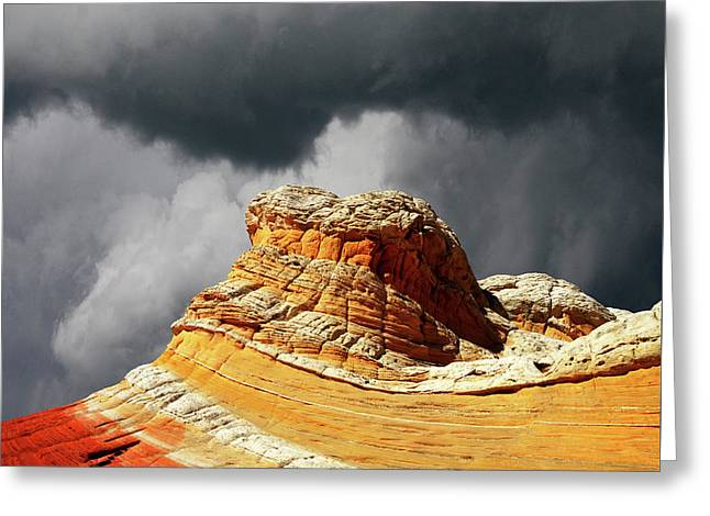 Greeting Card featuring the photograph White Pocket 35 by Bob Christopher