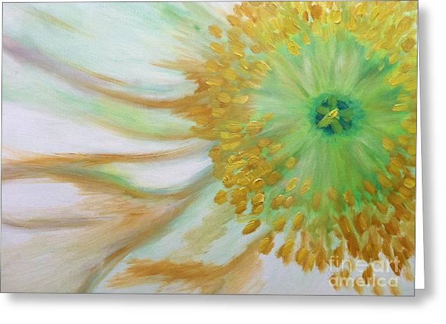 White Poppy Greeting Card by Sheron Petrie