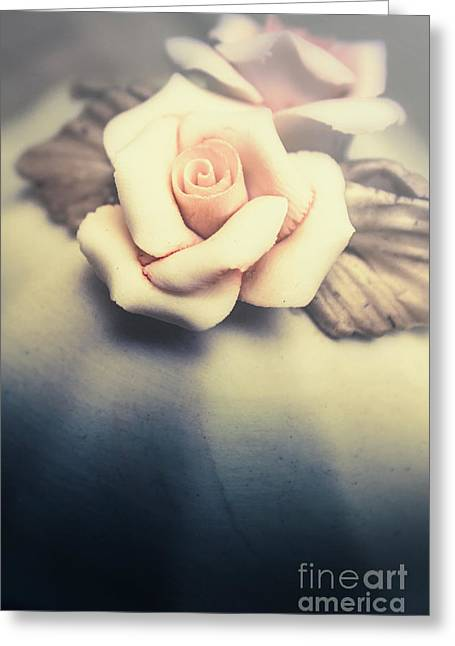White Porcelain Rose Greeting Card