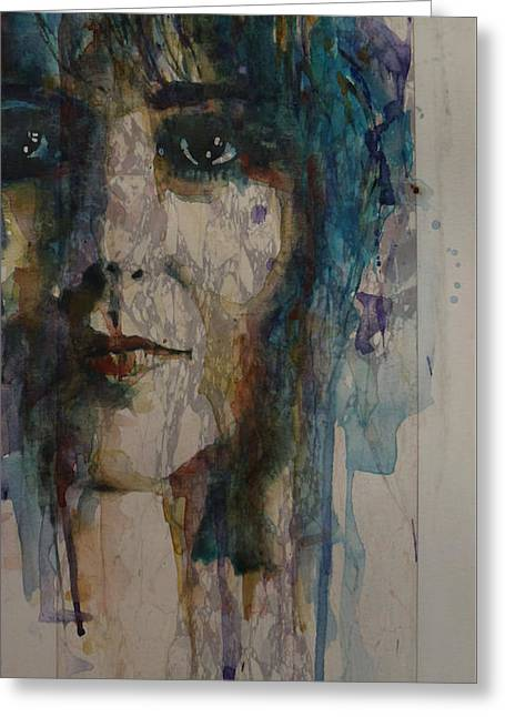 White Rabbit Greeting Card by Paul Lovering