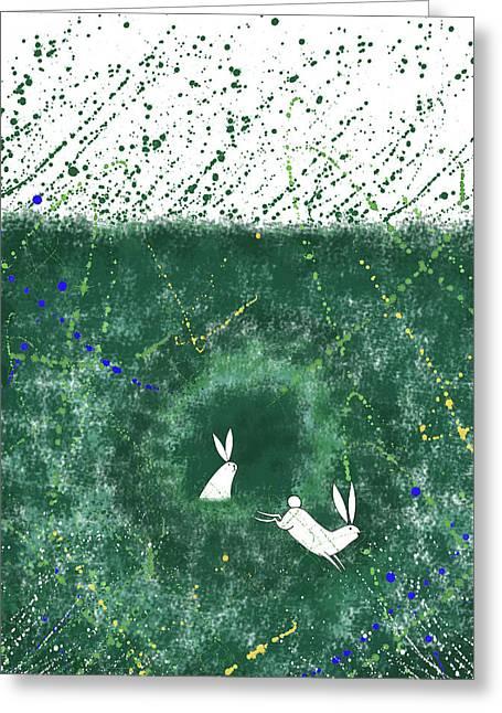 White Rabbits  Greeting Card