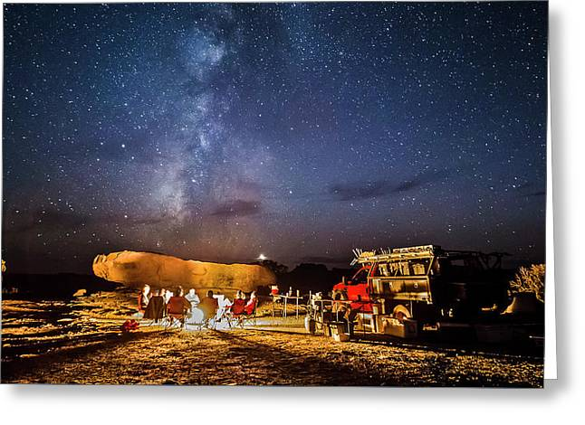 White Rim Camp Greeting Card