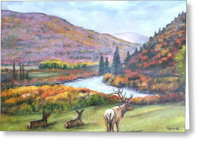 White River Greeting Card by Darla Joy  Johnson