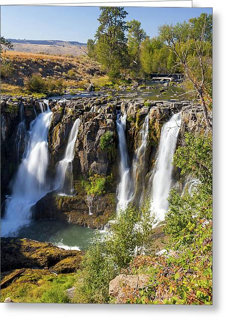 White River Falls In Tygh Valley Greeting Card by David Gn