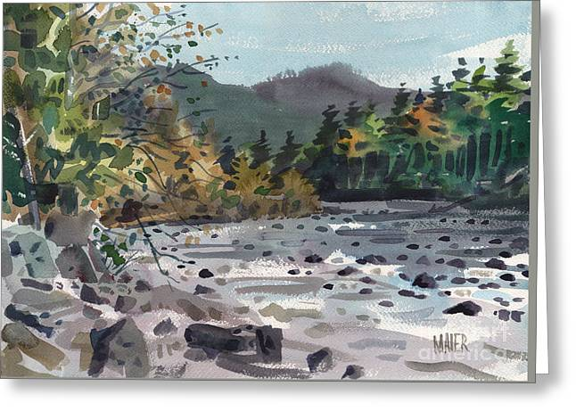 White River In Autumn Greeting Card by Donald Maier