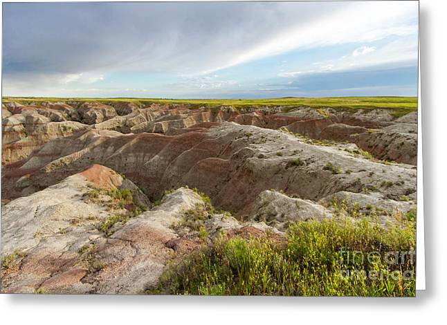 White River Valley Badlands Greeting Card