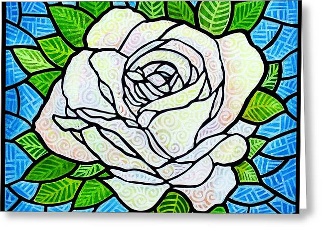 White Rose  Greeting Card by Jim Harris