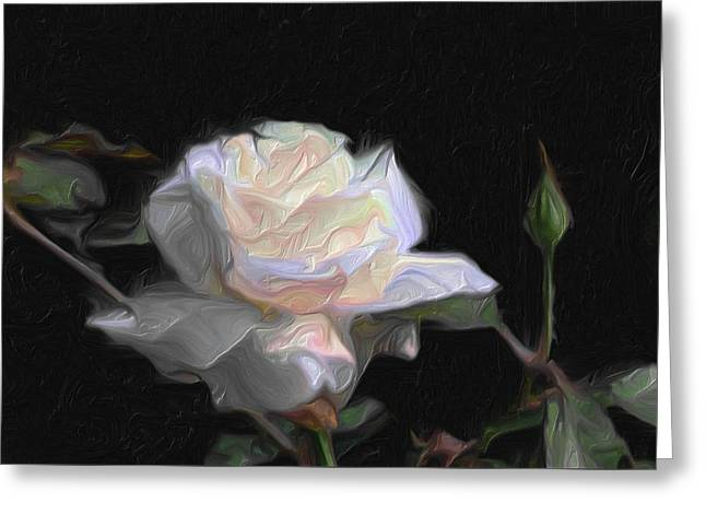White Rose Painting Greeting Card
