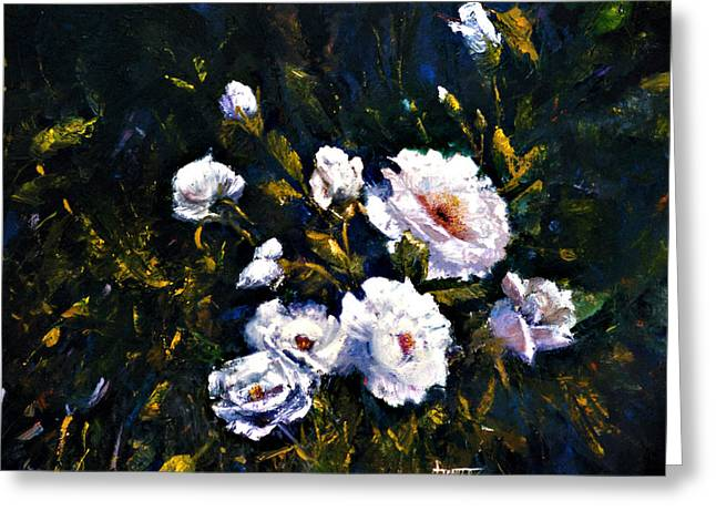 White Roses Greeting Card by Jimmie Trotter