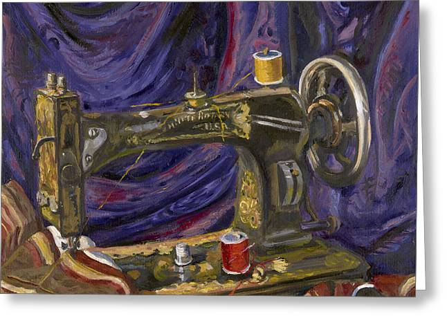 White Rotary Sewing Machine Painting By Katherine Farrell Gorgeous Katherine Sewing Machine
