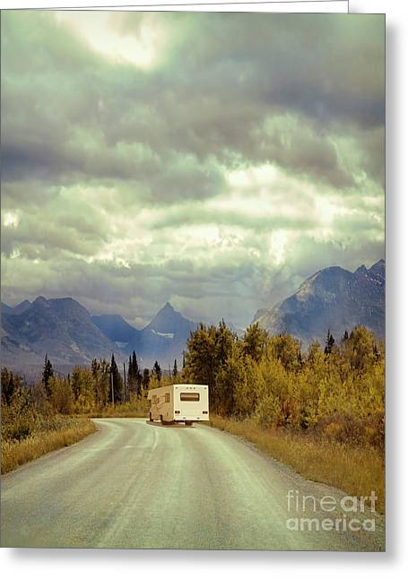 Greeting Card featuring the photograph White Rv In Montana by Jill Battaglia