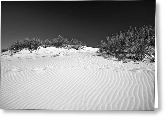Greeting Card featuring the photograph White Sands 5 by Lou  Novick