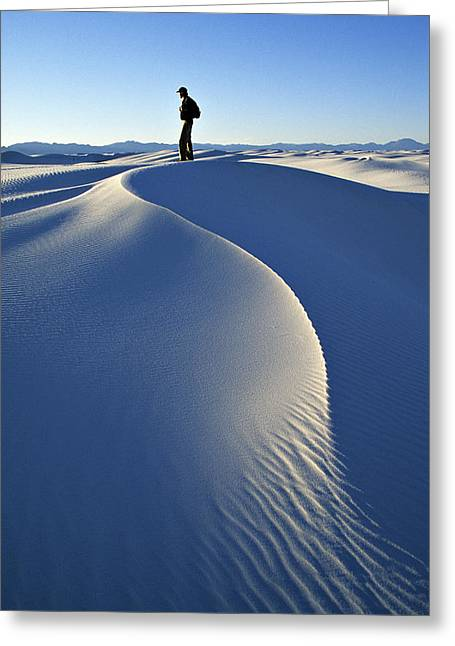 White Sands National Monument, Nm Usa Greeting Card by Dawn Kish
